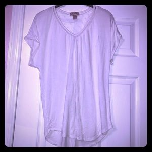 EUC Loft white v-neck shirt
